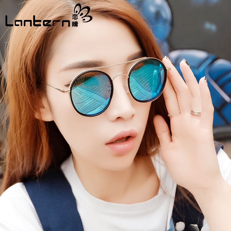 Sunglasses Women 2020 fashionable Polarized Sunglasses retro women Hong Kong style driving drivers mirror round face big face trendy round frame