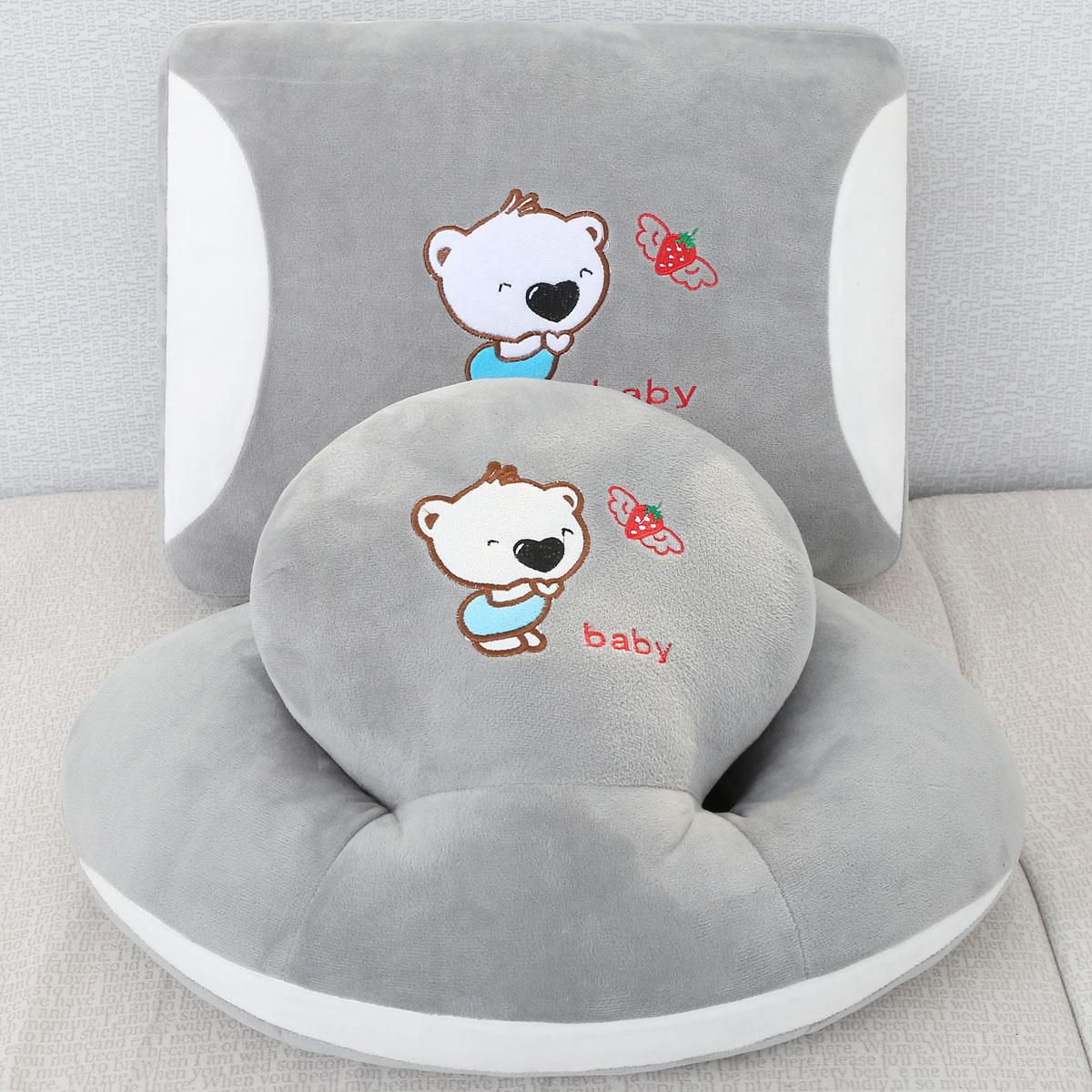 可爱办公室护腰垫背卡通抱枕靠垫沙发靠枕午休午睡枕头趴趴枕套装