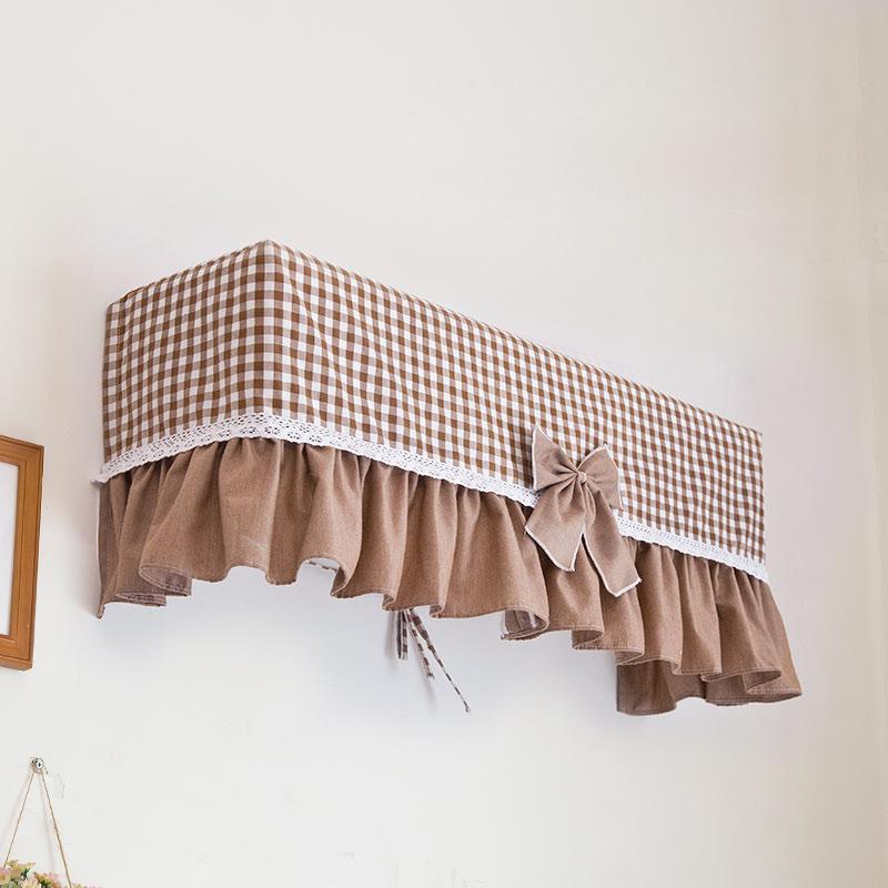 韓式掛式空調罩掛機簡約 田園布藝蕾絲加大1.5p格力美的