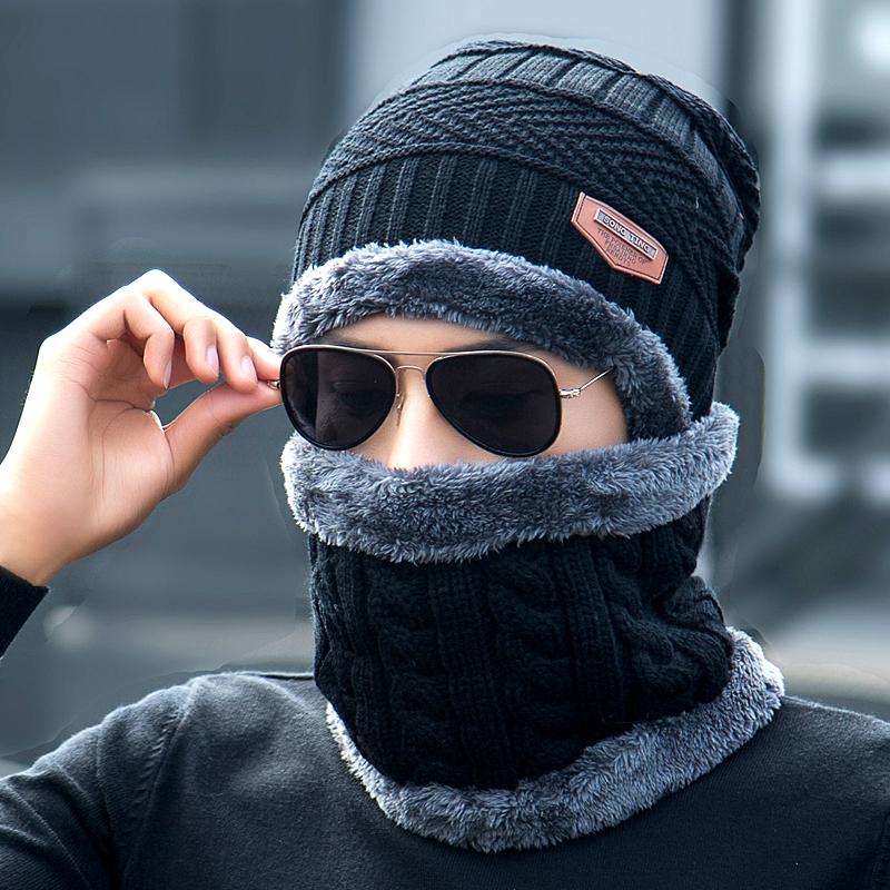 Шляпа мужчина зима плюс ворсинка линия крышка сгущаться вязаная шапка осенью и зимой пакет глава хлопок крышка теплый волна молодежь корейский