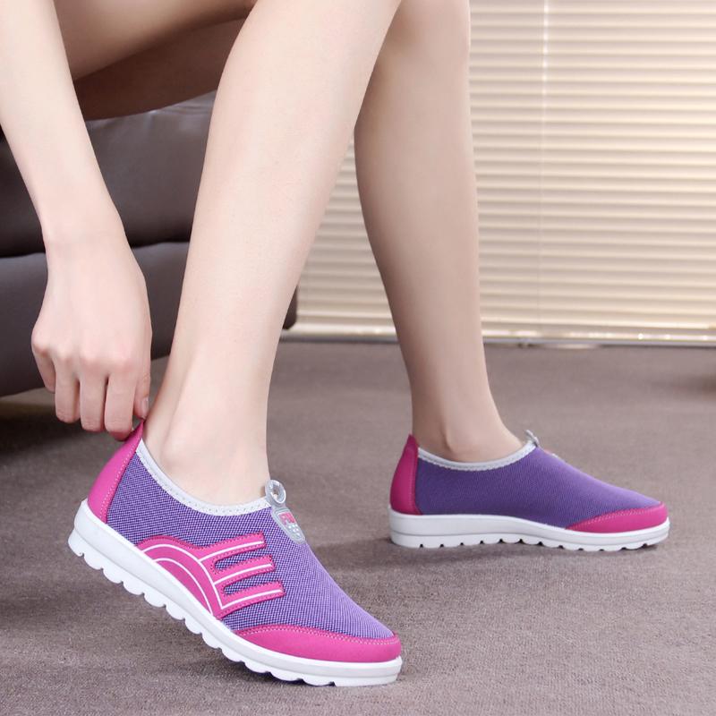 2015新款老北京布鞋女鞋休闲鞋透气平底防滑单鞋运动鞋软底妈妈鞋