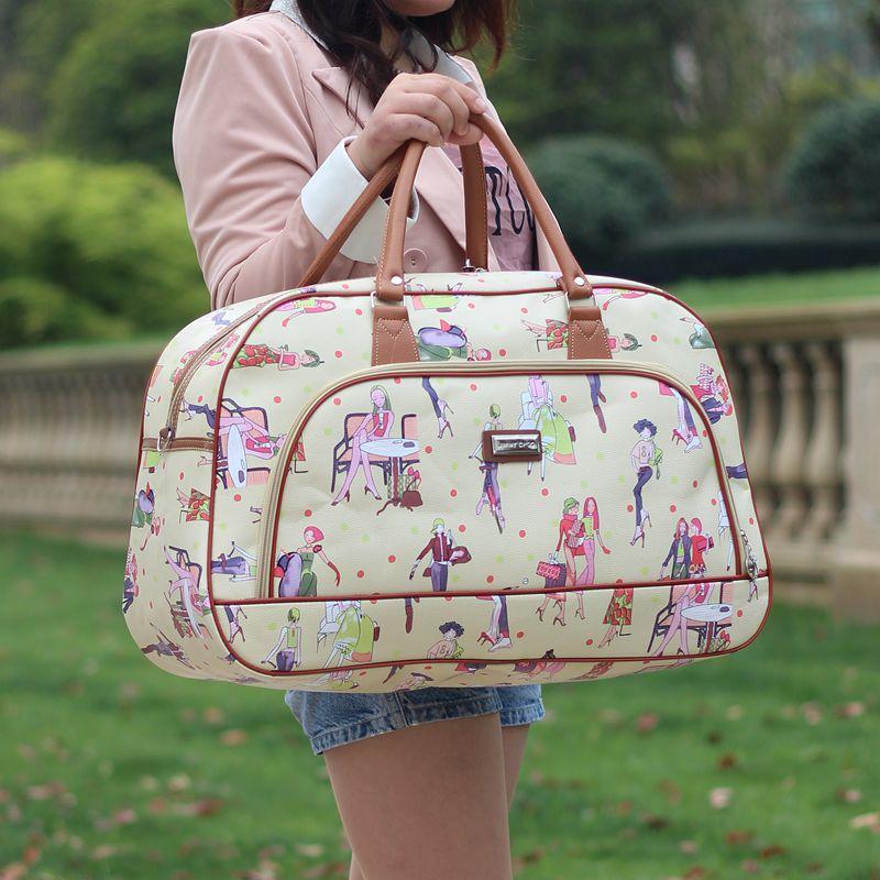 Новый сумка женщина портативный большой потенциал багаж пакет кожзаменитель короткая бумага способ путешествие мешок бизнес путешествие пакет мужчина корейская волна