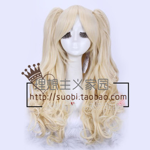 Ideal cos anime wig split Lolita lolita golden ponytail long hair fluffy cos