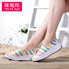 MI Ka lazy sets foot shoes Korean wave canvas shoes asakuchi women thick cake shake shoes shoes shoes