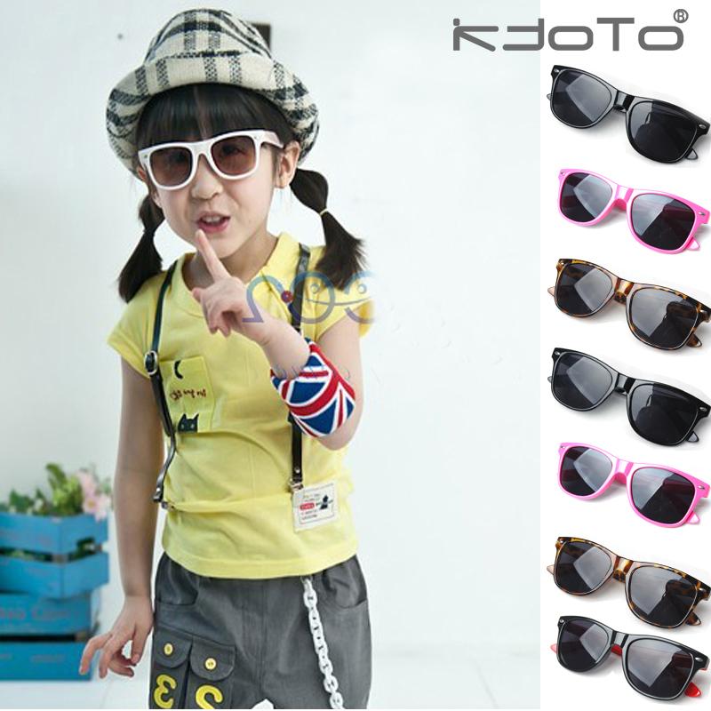 Волна Детские солнцезащитные очки мода девочек и мальчиков младенца черные очки sun козырька солнцезащитные очки УФ оптом