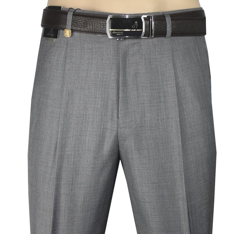 啄木鸟男裤中年西裤男士高腰深裆夏季薄款中老年直筒宽松西装裤