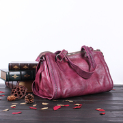 Beautiful Dragon leather women bag 2015 suede leather retro slung carry-on Europe surge Pack clearance