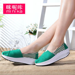 MI Ka fall 2015 new fashion ladies casual shoe breathable lightweight stripes shook shoes women high shoes