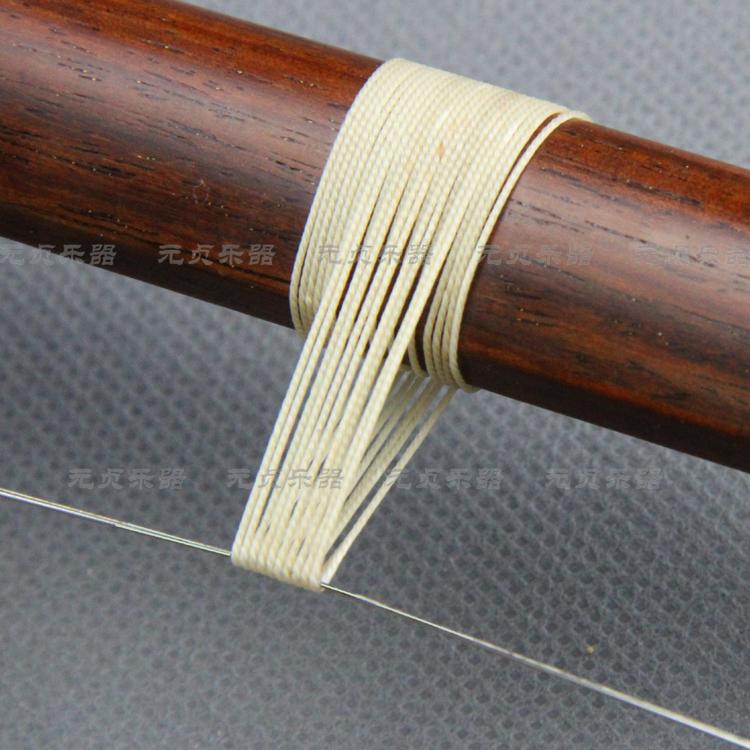 蚕丝二胡专用千斤线 千金线 米黄色 二胡配件 优于棉质的千斤