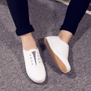 2015 little white shoes summer Korean version of Lok Fu shoes with flat lazy was wearing canvas shoes sport shoes women boomers
