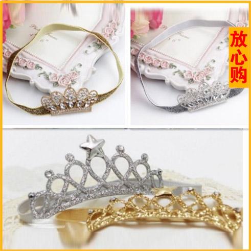 Ребенок императорская корона золотой серебряная голова украшения заставка девочки аксессуары корейский новый фотография одежда ребенок фотографировать заставка