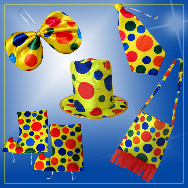 Cosplay clown clothing accessories clown accessories clown props clown Bag Backpack clown shoes cover clown hat