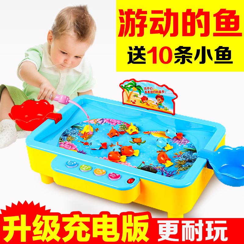 Ребенок поощрять ребенок рыболовство игрушки люкс с бассейном мужской и женщины ребенок 1236 лет ребенок котенок электрический рыбалка магнитный головоломка играть