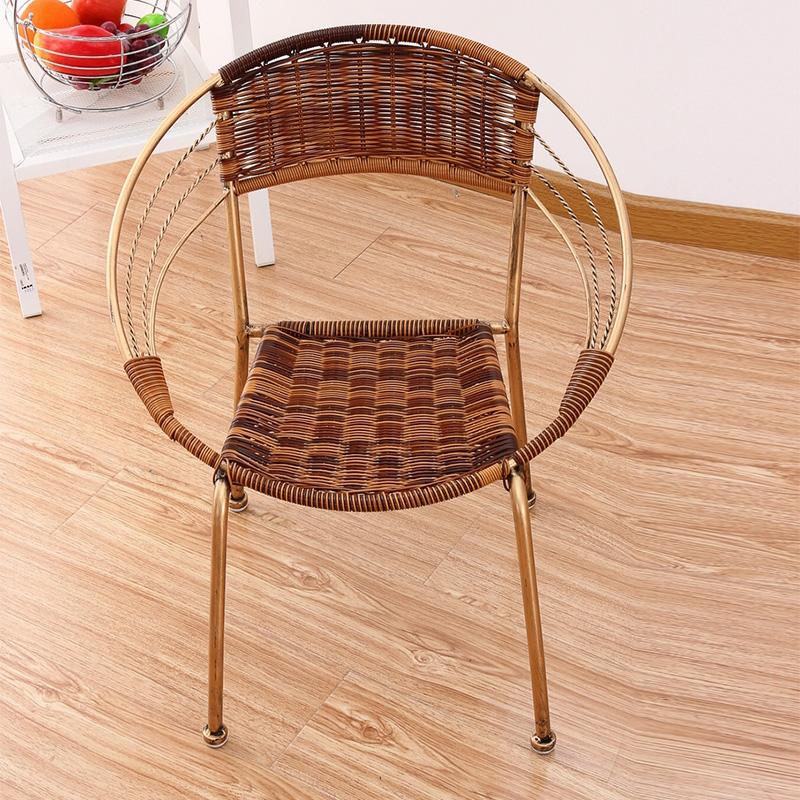 柏思諾 陽台戶外 兒童藤編椅子 簡約小藤椅 寶寶椅靠背釣魚凳