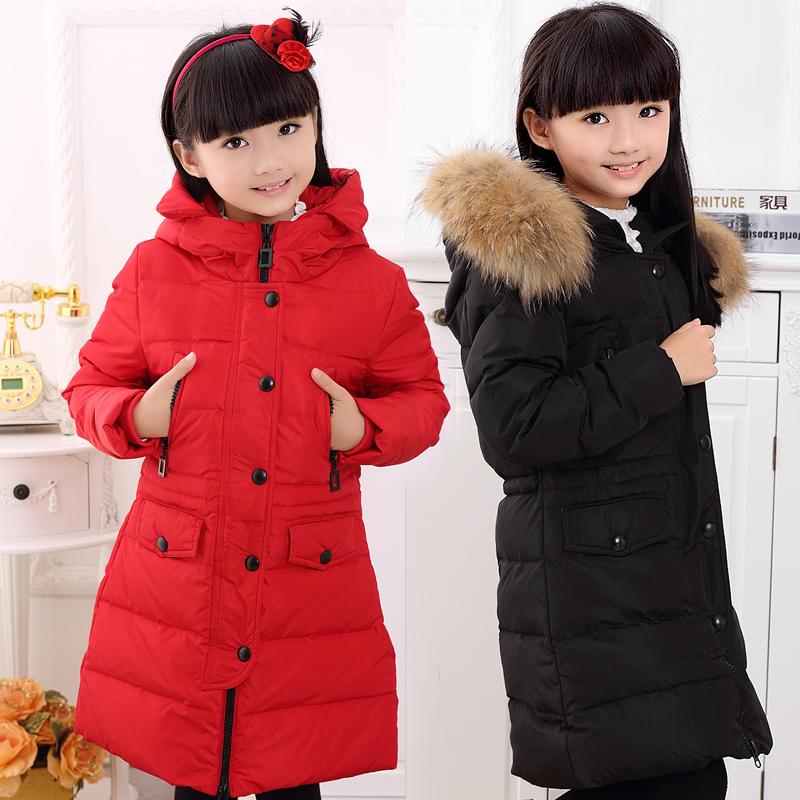 Девочек длинные вниз куртка ragazza 2015 мягкий шубу вниз сезон Одежда распродажа