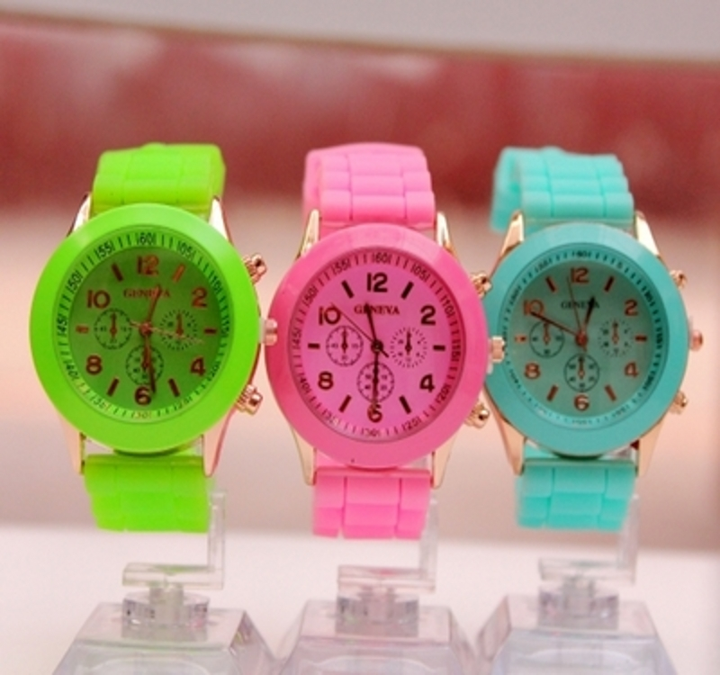 Baoyou watch men and women Korean fashion candy girl students jelly silicone watch