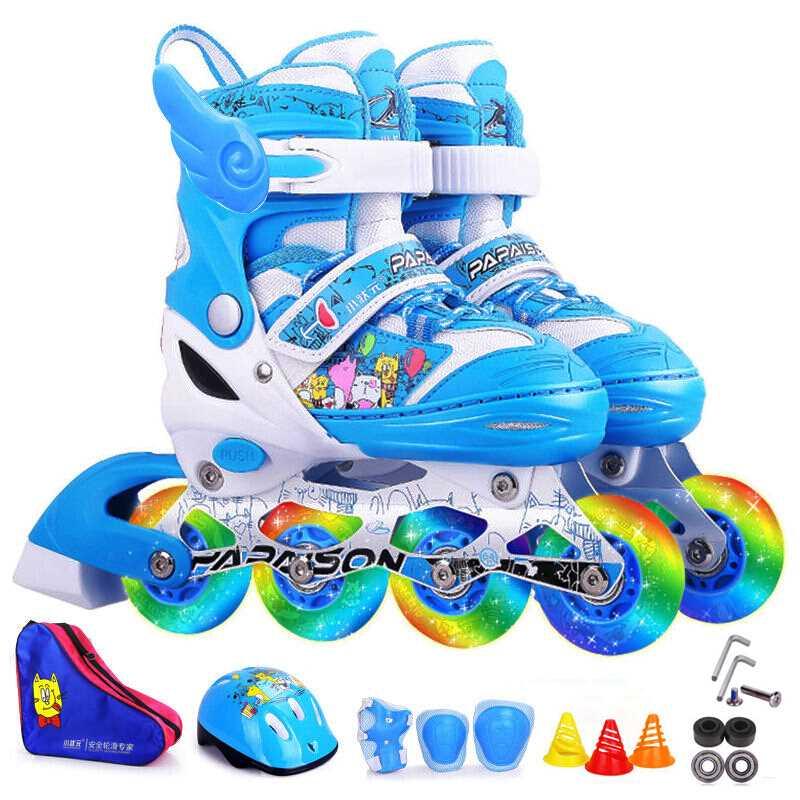 小状元带音乐溜冰鞋 儿童全套装旱冰鞋小孩滑冰鞋儿童男宝宝滑轮