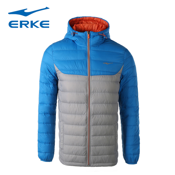 Erke men thin down jacket warm winter outdoor sportswear new men short coat Slim