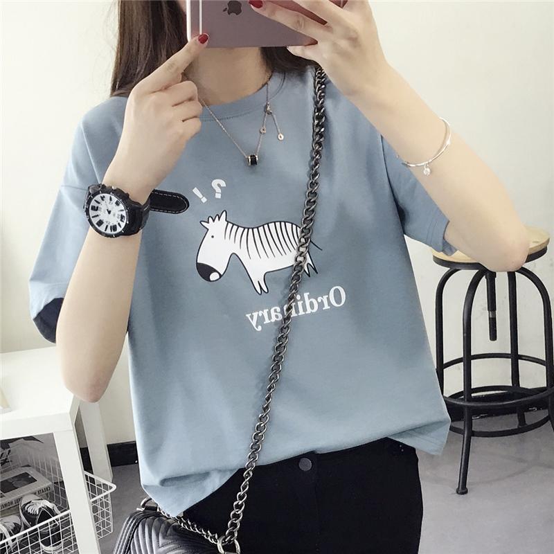 Свободный t футболки женский с коротким рукавом лето сочувствовать рубашка небольшой свежий женский пиджак корейский женщины летний костюм 2017 новый волна