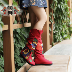Chinese dance fall of authentic ethnic women's boots high boots women's classic boots in embroidered pride