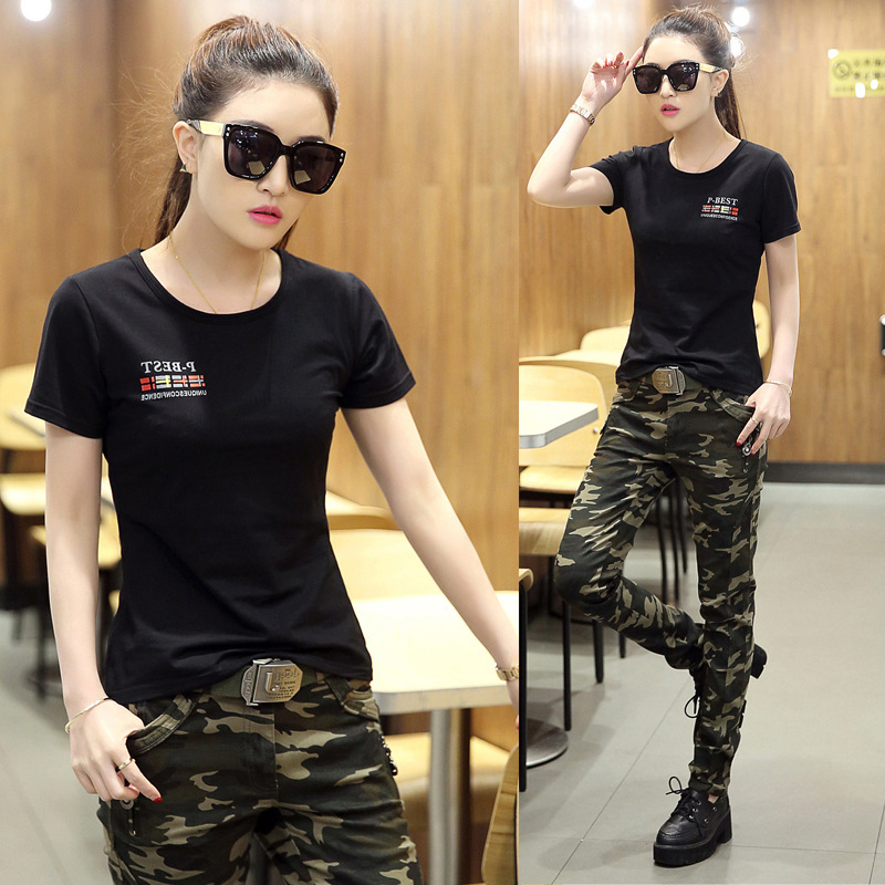 夏季女时尚迷彩套装户外运动迷彩服女式潮正品特推 A-2+668