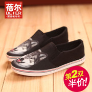Becky fall 2015 the new Lok Fu shoes canvas shoes men Korean low a pedal leisure shoe bag of lazybones mail