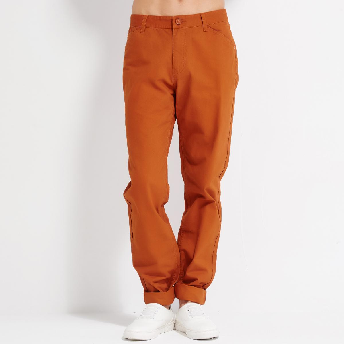 森馬男式極簡舒適純色直筒長褲