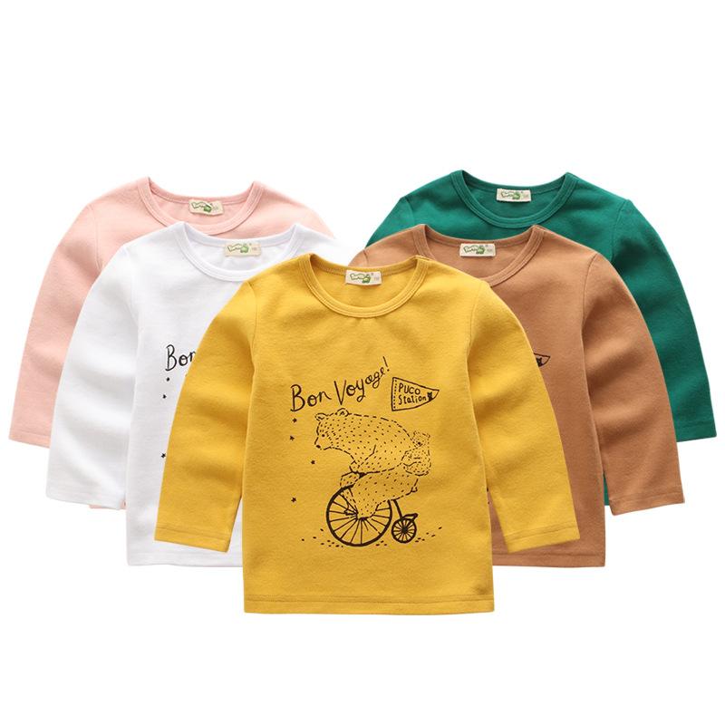 淘�恺�童�b新品男童女童�棉����T恤上衣套�^衫春季中小童打底衫