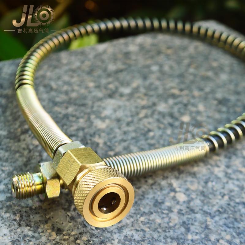 Высокое давление шланг весна трахея 63mpa насос поощрять машинально M8 постоянный клапан давления специальный заряд газ мужчина кнут глава