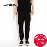 Westlink/West fall 2015 new DrawString Pant men's casual elastic waist Guard underwear with bound feet