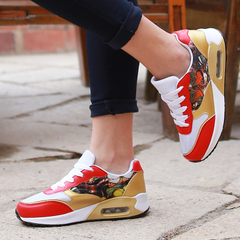 Microphone clicking New 2016 winter thick Korean air cushion shoes leisure shoes flat shoes woman shoes