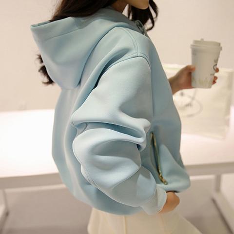 2016 Весна Корейский плюс флис девочек свитер джемпер с длинным рукавом бейсбол равномерное костюм студентов вне школы ветра волны