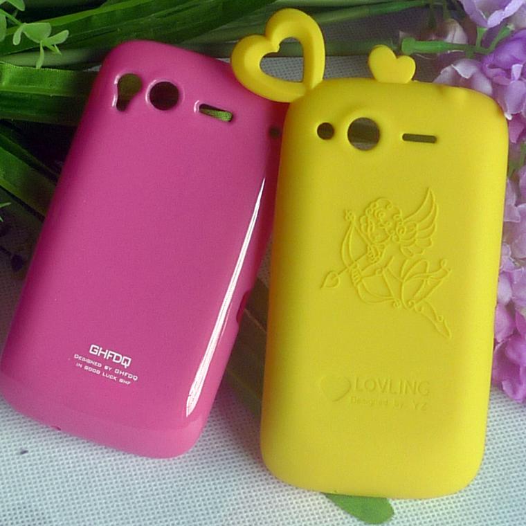 卡通套 htc g12手机壳 g12手机套 s510e果冻套软套保护套爱心