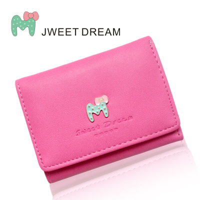 Sweet letters with zero wallet female brief paragraph 2 fold the purse's main photo