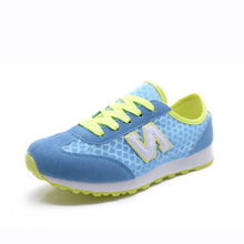 Jin Ming le white gauze quality goods students in spring and summer sports shoes leisure N flat shoes breathable mesh for women's shoes