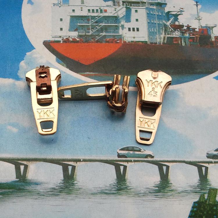 增值税保证真YKK半自动锁3号金铜青古铜Y型头 裤门襟金属拉链码带