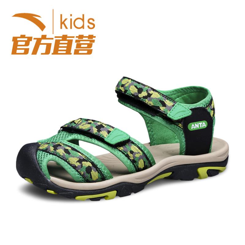 安踏童鞋 兒童包頭涼鞋2016 男童沙灘鞋中大童男孩涼鞋