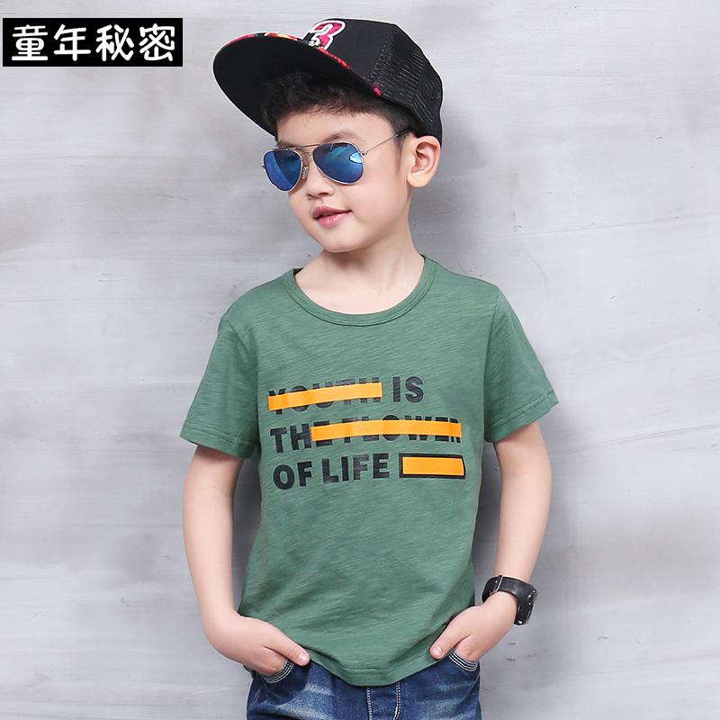 男童純棉中大童兒童恤衫