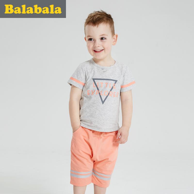 巴拉巴拉男童套裝寶寶 2016夏裝 兒童短袖T恤短褲兩件套男