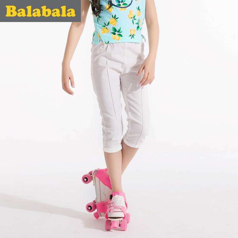 巴拉巴拉女童中大童童褲子