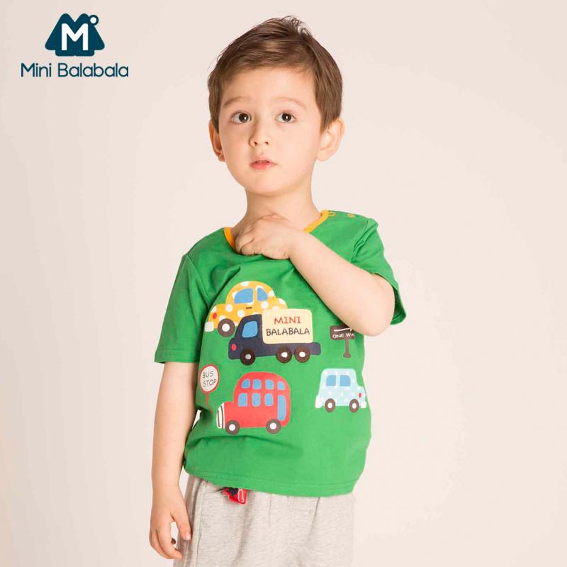 迷你巴拉巴拉男童寶寶兒童圖案t恤