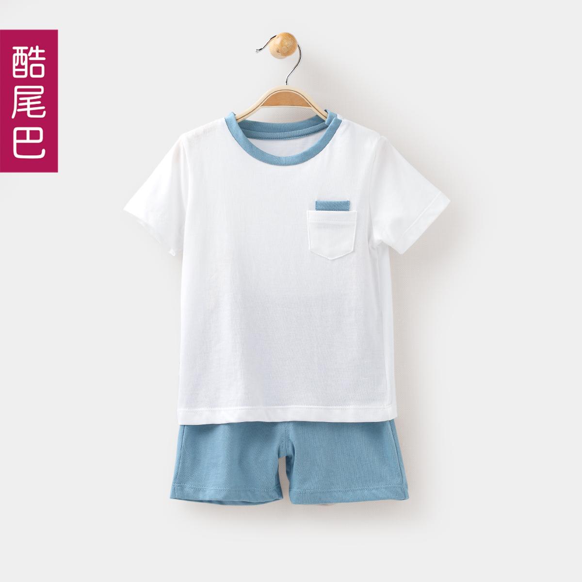 男寶寶夏裝套裝0~1歲 男童短袖套裝 男嬰兒T恤套裝 純棉薄款短褲