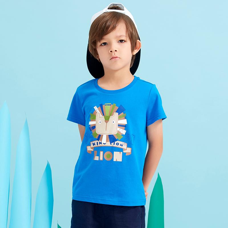 ~買4退1~美特斯邦威中童線上專供男童獅子圖案T恤