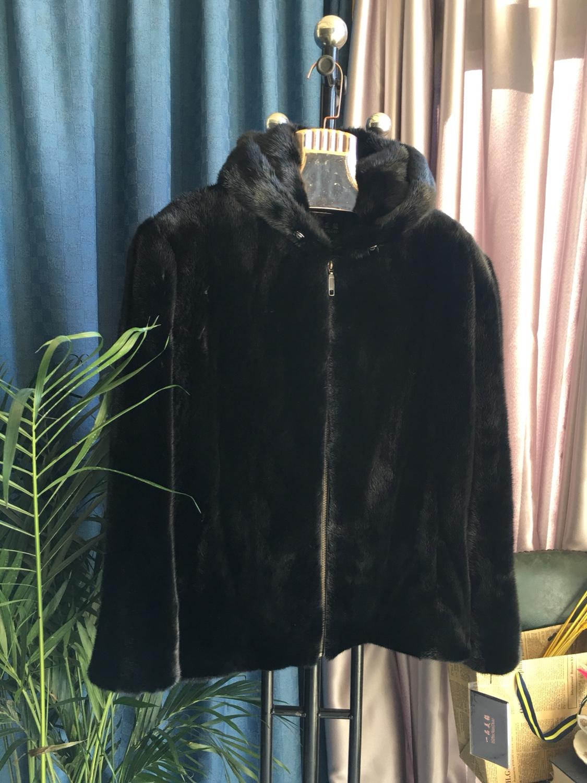 Mens mink imported whole mink velvet mink jacket coat