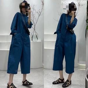 抖音网红景点同款孔雀蓝宽松连体裤