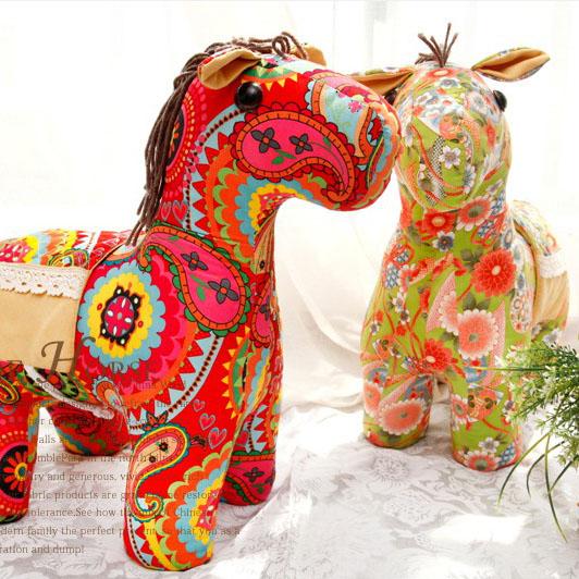 Gododo кукла этнических на коне мягкие ткани куклы куклы Новогодний Рождественский подарок