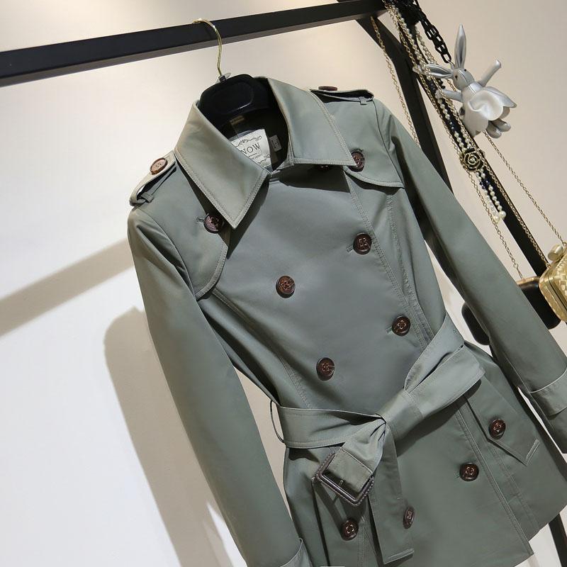 矮小个子风衣女中长款英伦风大衣韩版气质2020年春季新款精品外套