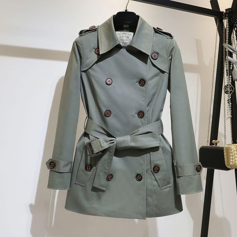 高端大气精品风衣女2020年春季经典款外套新款中长款小个子大衣潮