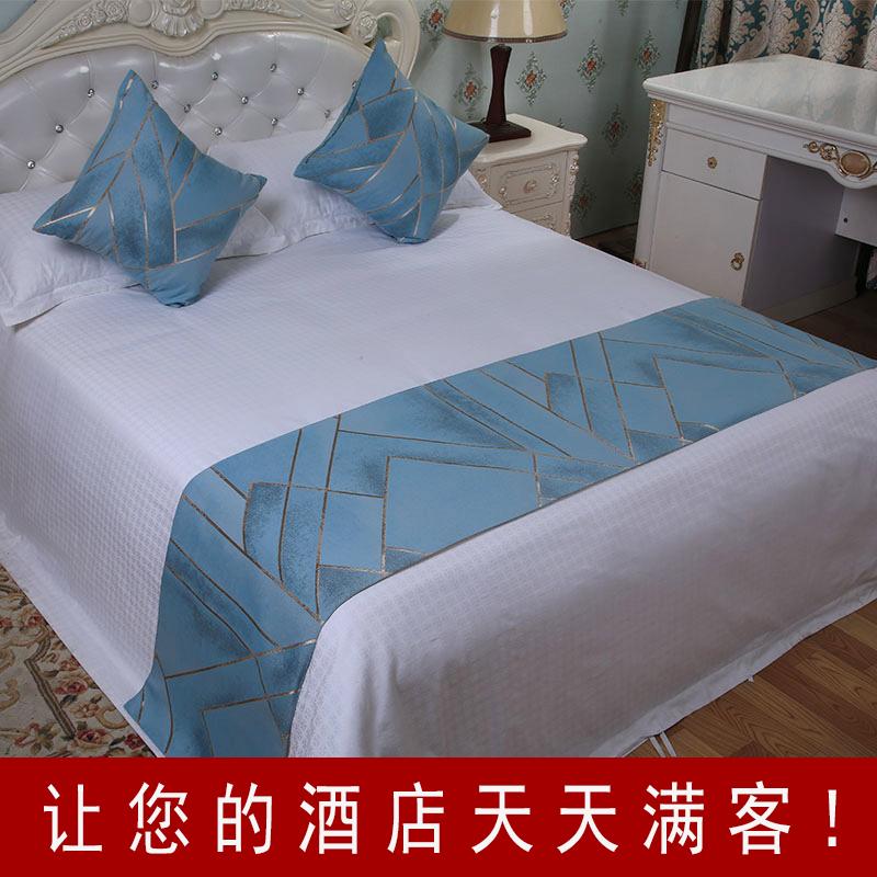 雪尼尔床上用品酒店宾馆高档时尚欧式床旗床尾垫床盖床尾巾