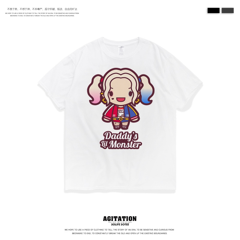 Cotton round neck short sleeve t-shirt mens Justice League bat chivalrous woman clown peripheral clothing fashion summer youth